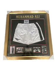 Muhammad Ali Signed Shorts In Amazing Montage Comes With Coa.