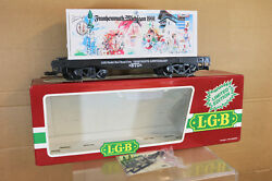 Lgb 4085 Cc G Scale Dr Drg Frankenmuth Michigan 1991 Container Wagon Nk