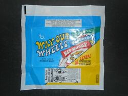 1970 Way Out Wheels Card Wrapper Topps Camera Ad