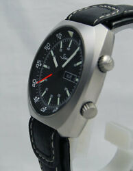Sinn 240.st Automatic Men's Watch Cow Leather Strap Black Dial Stainless Steel