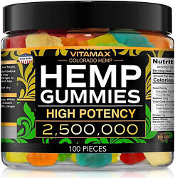 Natural Gummies For Stress Relief - Great For Pain, Insomnia And Anxiety -100ct