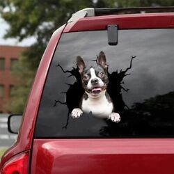 Boston Terrier Car Decals Dog Car Stickers Dogs Lover Decal 3D Vinyl 12x12quot;