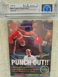 Nes Mike Tyson's Punch-out Wata 6.0 Cib 9.0 Cart And 7.0 Letter Nintendo A Round