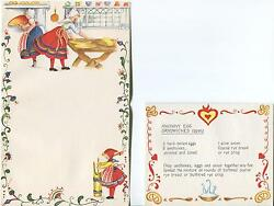 1 Christmas Horse Foal Chickens 1 Vintage Butter Churn Anchovy Egg Sandwich Card