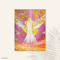 Angel Home Decor Protected By Love - Spiritual Wall Pictures, Acrylic Painting