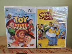 The Simpsons Game + Toy Story Mania - 2 Game Bundle Wii