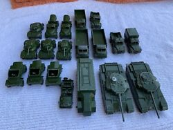 Vintage 1950s Dinky Diecast Military Vehicle Collection, 19 Toys