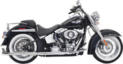 Bassani Xhaust Chrome 30in Fishtail Exhaust System For 07-17 Harley