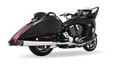 Freedom Racing Dual Exhaust-blk/chrome For Victory Cross Country/roads Mv00017