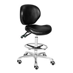Adjustable Stools Drafting Chair With Backrest And Foot Resttilt Black
