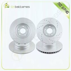 Front And Rear Drilled Andslotted Brake Discs Rotors For Bmw