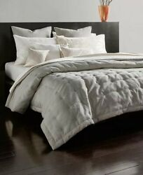 New DONNA KARAN Home Gray Silver Radiance Quilt King Size
