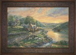 Thomas Kinkade Studios Daybreak At Emerald Valley 24 X 36 Le A/p Canvas Framed
