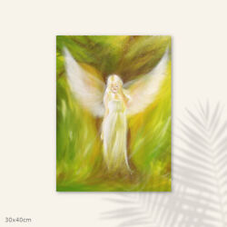 Guardian Angel Art Print The Dreaming Tree Spiritual Bedroom Above Bed Decor