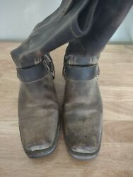 Fry Harness Leather Boots For Women Size 8.5 M Color Brown