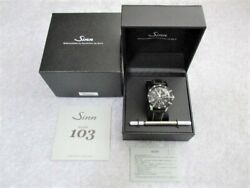 Sinn Menand039s Watch 103.b.auto Black Dial Automatic Leather Belt Very Good Boxed