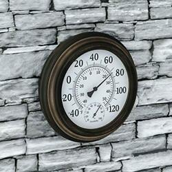 Pure Garden Wall Thermometer-decorative Indoor Outdoor Temperature And Hygro04
