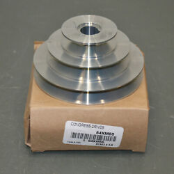 Congress Stepped V-belt Pulley Sca400-3x062kw, 5/8 Bore, 3 Groove, 4l A, Zinc