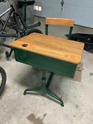 Vintage Child's School Desk American Seating Co., Chicago, Il