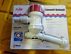 Rule C Tournament Series 800 Gph Livewell/aerator Angled Inlet 403c