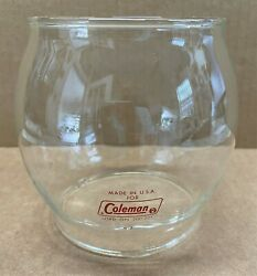 Vintage Coleman Red Letter Glass Globe For Single Mantle Lantern 200-201 Models