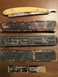 5 Antique Straight Edge Razors, Many Different Types- Small One