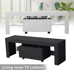 51 Tv Stand Entertainment Center Console High Gloss Cabinet Unit W/ Led Lights