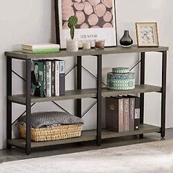 Rustic Console Table For Entryway Industrial Sofa/entry Table 55in Gray Oak