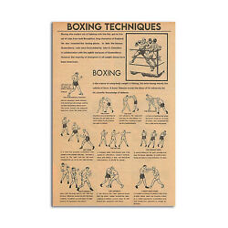 Boxing Techniques Vertical Poster Boxing Wall Art Boxing Gift Gym Poster