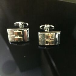 Dolan Bullock Sterling 925 And 14k Gold Cufflinks Two Toned