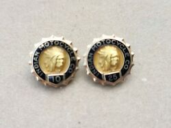 Vintage Indian Motorcycle Service Pins 10 And 25 Year