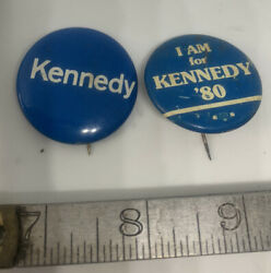 Two 68-80 Robert Kennedy Bobby Rfk Campaign Pin Pinback Button Political