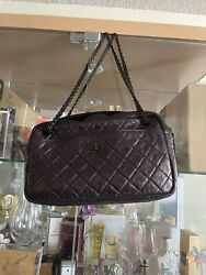 100 Authentic Metalic Calfskin Leather Bag