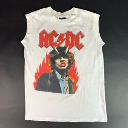 Ac/dc Who Made Who Tour 1986 Mens Sneakers Graphic T-shirt White Vintage Tee L