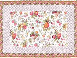 New Les Olivades Bordered Fruchie 34.5 In X 17 In Runner