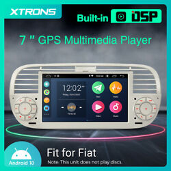 7 Android 10 4-core 2+32g Dsp Rca Car Gps Stereo Radio For Fiat 500 2007-2015