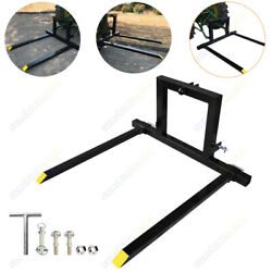 3 Point Pallet Fork Attachment Cat 1 Quick Hitch Logs Fields Adjustable Mover Us