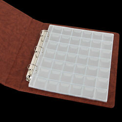 10 Pages 42 Pockets Plastic Coin Holders Storage Collection Money Album Casefus