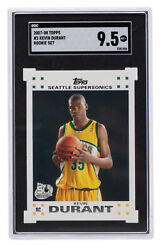 Kevin Durant 2007-08 Topps 2 Seattle Supersonics Rookie Card Sgc 9.5 Mt+
