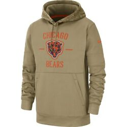 New Nfl Chicago Bears Nike Salute To Service Sideline Therma Pullover Hoodie Nwt