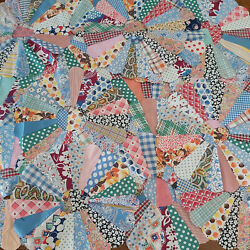 Lot Of 30 1930s/40s Dresden Plate 12 Quilt Blocks Ready To Sew Into Quilt