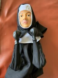 """Fighting Boxing Nun Punching Puppet With Mustache Marked In Pen 13"""" Novelty Gag"""