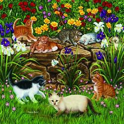 Wall Flowers 500 pc Jigsaw Puzzle by SUNSOUT INC