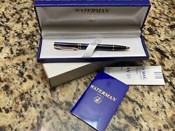 Waterman Laureat Ballpoint Pen Blue And Gold Blue Ink New In Box Made In France