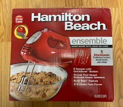 Hamilton Beach 6-speed Electric Hand Mixer Beaters And Whisk With Snap-on