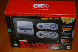 Authentic Nintendo Snes Classic Mini Edition Console Brand New Factory Sealed