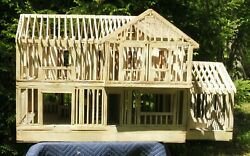 Architectural Model Wood House Mid Century
