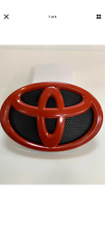 New 2007-2009 Toyota Camry Hood Grille Front Emblem Black-red Fast Shipping
