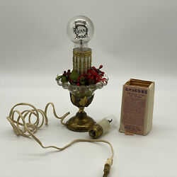 Small Glass Christmas Lamp With Aerolux Merry Xmas Light Bulb And Flicker Bulb