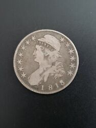 1818 8 Over 7 Small 8 Capped Bust Half Dollar